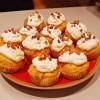 Cupcake au potimarron, fromage de chèvre et châtaigne