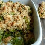 Crumble de brocolis au Parmesan