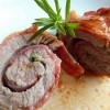 Escalope de veau roulée au lard et à la sarriette