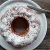 Gâteau moelleux au passion curd et à la noix de coco