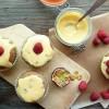 Cupcakes framboises et passion curd