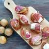 Toast de pommes de terre bonnottes de Noirmoutier et Pata Negra