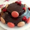 Gâteau au chocolat en pièce montée