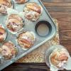 Muffin aux pêches, noisettes et fromage frais