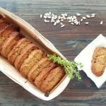 Croquets au pesto et graines de tournesol