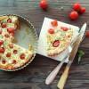 Quiche sans pâte aux tomates cerises, feta et basilic {sans gluten}