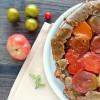 Tatin de tomates anciennes, pâte aux pois-chiches et au pavot {sans gluten}