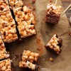 Salted caramel popcorn and brownie bars