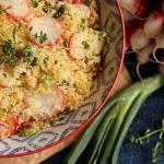 Taboulé de printemps aux radis, cébettes et thym citron