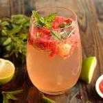 Virgin mojito à la fraise {sans alcool}