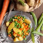 Petits-pois carotte et pommes de terre