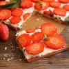 Tarte aux fraises et menthe poivrée