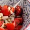 Salade de mogette de Vendée à la tomate et au basilic
