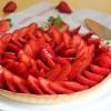 Tarte aux fraises {sans lait}