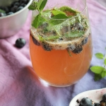Virgin mojito aux myrtilles {sans alcool}