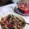 Poêlée de kale, sarrasin et grenade {sans gluten - vegan}