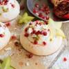 Mini pavlova à la grenade, passion et chocolat blanc