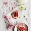 Panna cotta au lait de coco, rhubarbe et rose {vegan - sans gluten}