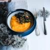 Polenta crémeuse au potimarron et champignons {vegan - sans gluten}