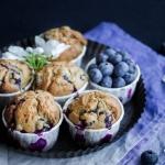 Muffins aux myrtilles {sans lait}