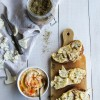 Tartines de chou-fleur rôti et houmous {vegan}