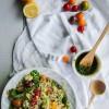 Salade de quinoa et légumes, sauce pesto {vegan - sans gluten}