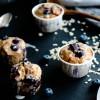 Muffins myrtilles et flocons {vegan - sans gluten}