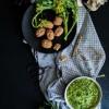 Pesto aux noix et cime di rappa {vegan - sans gluten}