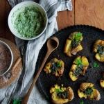 Pommes de terre écrasées croustillantes {vegan - sans gluten}