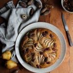 Gâteau aux poires et noix de pécans {vegan - sans gluten}