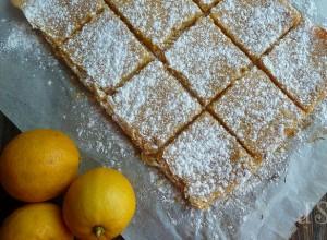 Carrés au citron et à la bergamote
