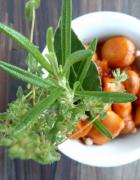 Soupe froide de courgettes aux olives et au basilic