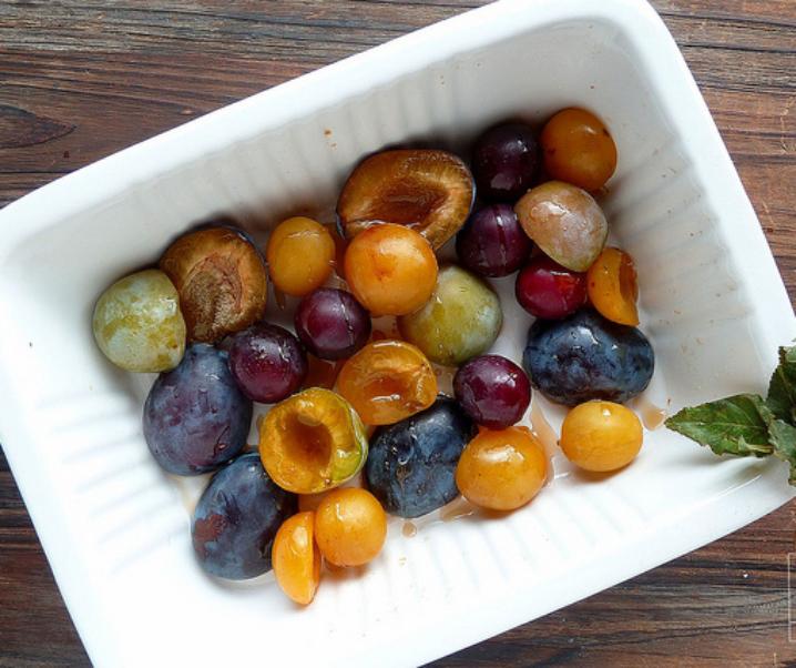 Compotée de prunes au sirop d'érable