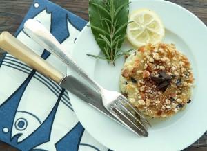 Recette Gratin de poisson façon parmentier au olives noires de Nyons, citron et romarin