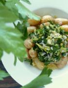 Tarte rustique à la compotée d'oignons et aux olives noires de Nyons {sans gluten, vegan}