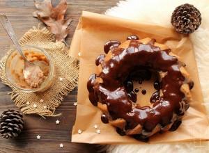 Bundt cake à la châtaigne et glaçage au chocolat {sans gluten}