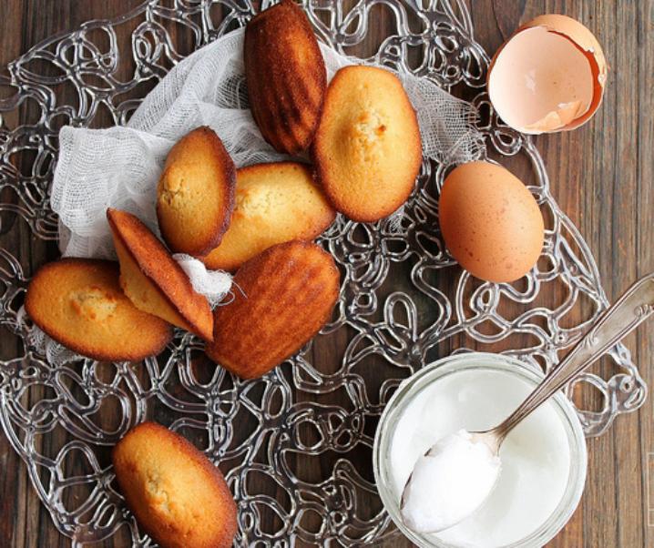 Madeleines au beurre de coco {sans lait}