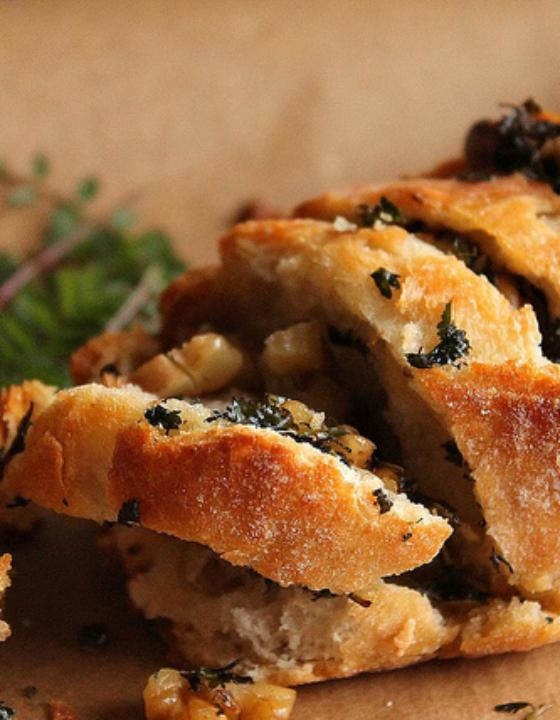 Pull apart bread aux noix et à la pimprenelle {vegan}