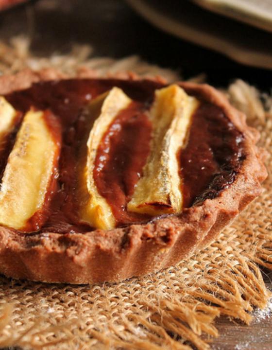 Tartelette banane chocolat