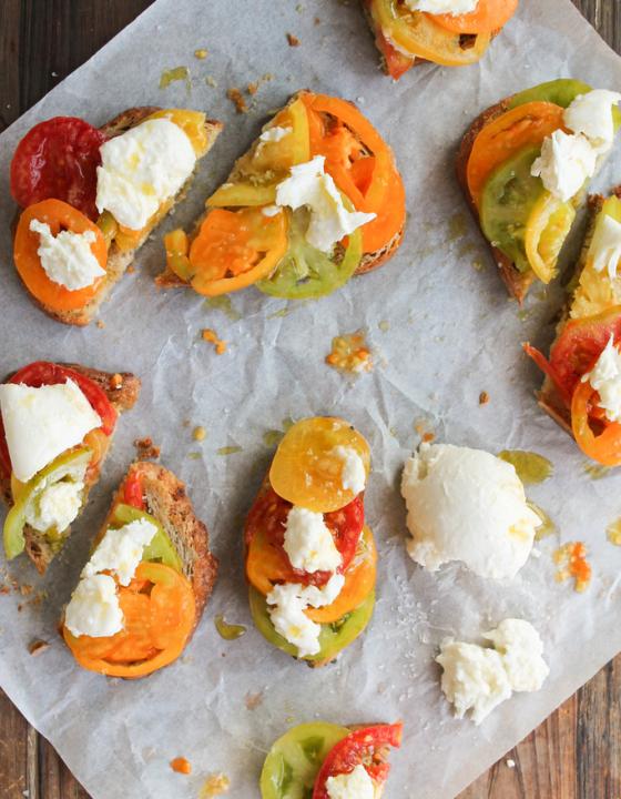 Bruschetta tomate-mozzarella