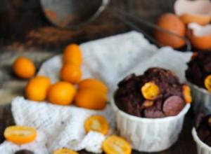 Muffins chocolat et kumquats {sans gluten - sans lait}
