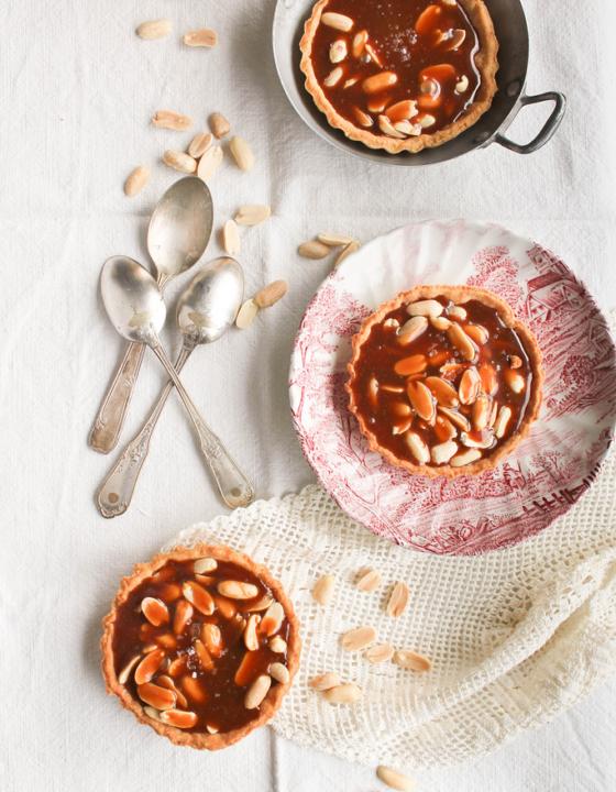 Tartelettes aux cacahuètes et caramel beurre salé