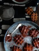 Sorbet fraise, basilic et huile d'olive