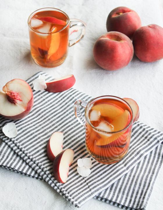 Thé glacé pêche et fleur d'oranger