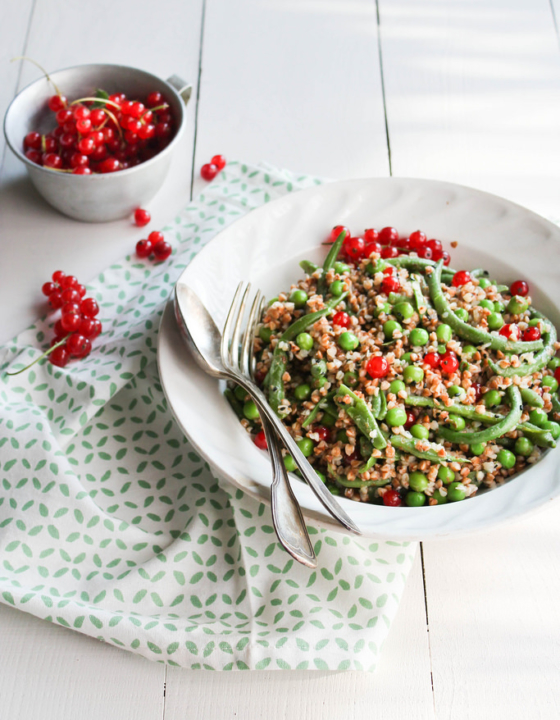 Salade de haricots verts et kasha