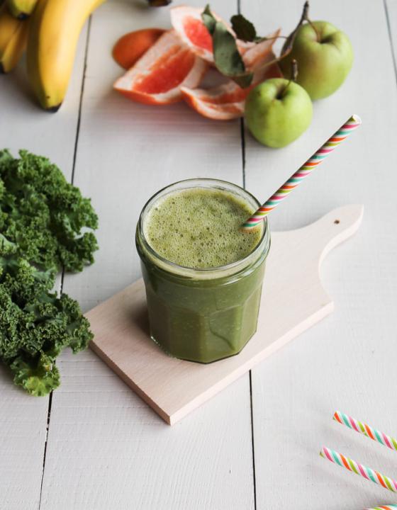 Green smoothie au kale «l'incroyable Hulk»