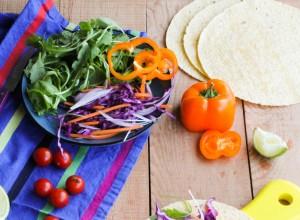 Veggie tortilla au seitan {vegan}