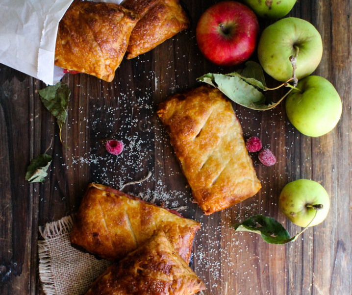 Chaussons aux pommes et aux framboises {vegan}