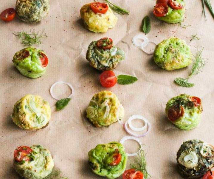 Frittata muffins aux légumes {sans gluten – sans lait}