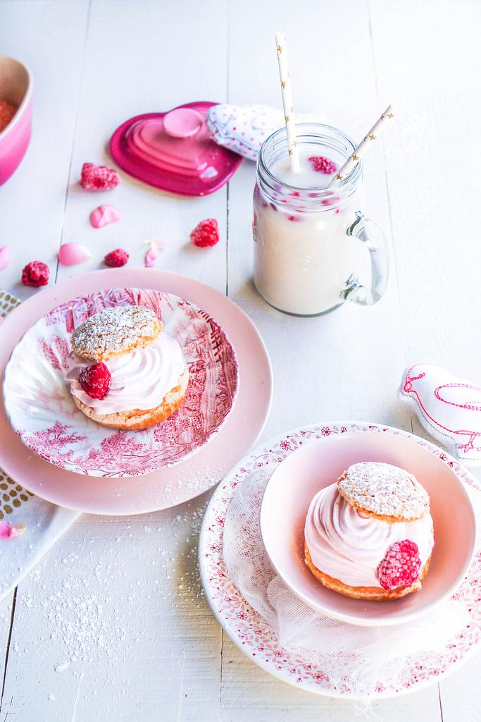 Choux chantilly c ur framboise saint valentin aime mange - Quand est la saint valentin ...